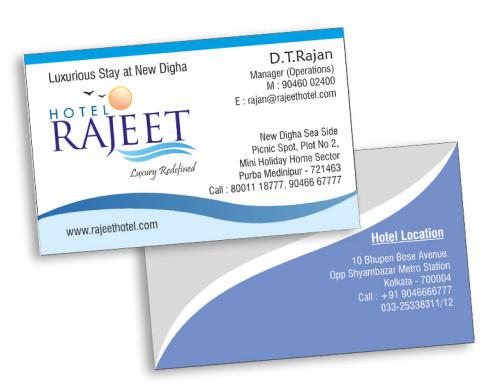 Visiting Card – Hotel Rajeet