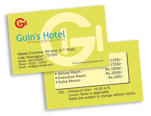 Visiting Card-Guin's Hotel